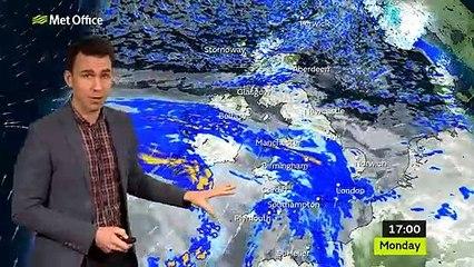 Met Office weather forecast Monday 18/01/21