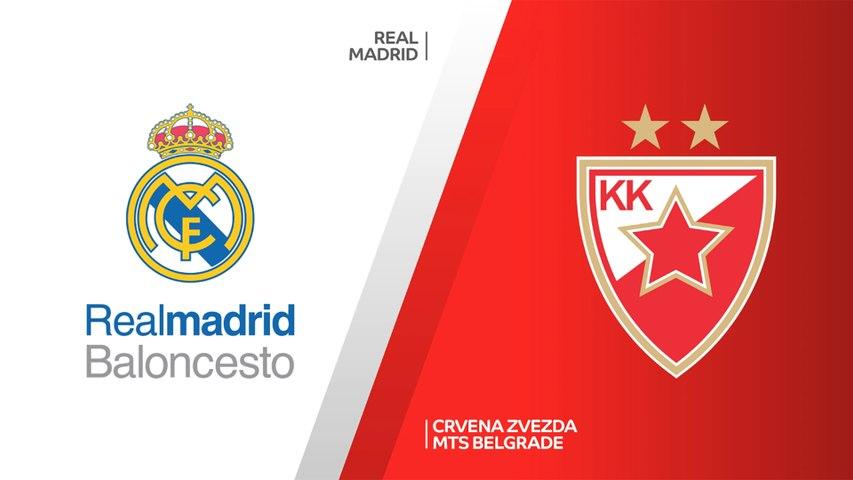 Real Madrid - Crvena Zvezda mts Belgrade Highlights | Turkish Airlines EuroLeague, RS Round 19