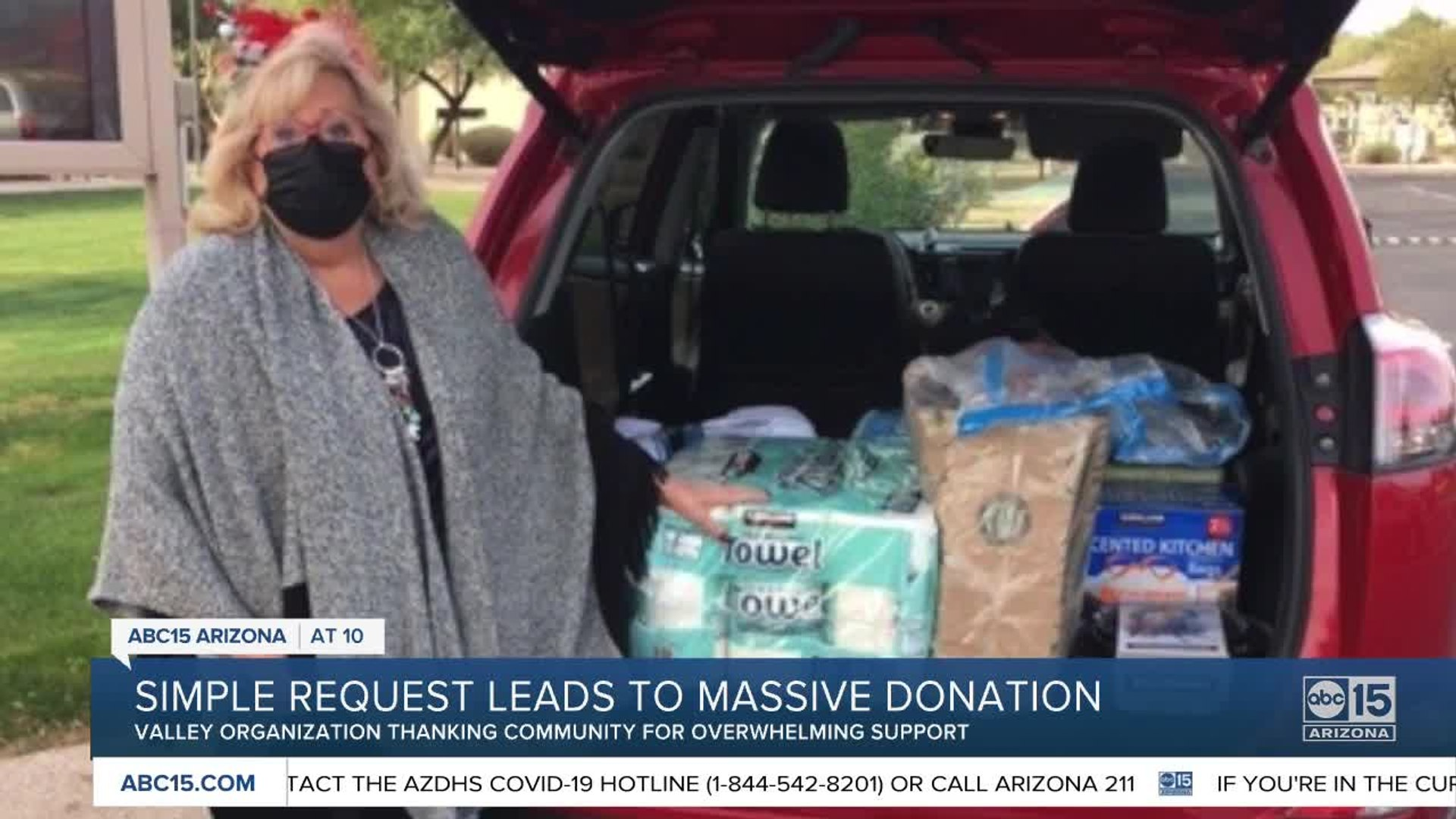 Valley non-profit overwhelmed with donations after Nextdoor post