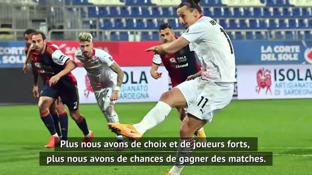 "18e j. - Pioli : ""Ibrahimovic est un champion"""