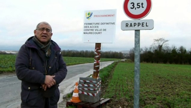 Maurecourt ferme la route d'accès aux hautilois