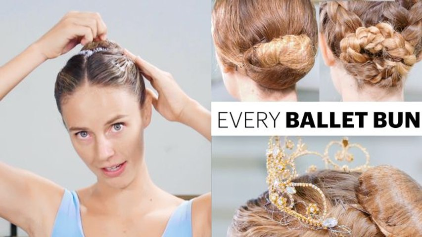 Every Ballet Hairstyle With Pro Ballerina Scout Forsythe   On Pointe