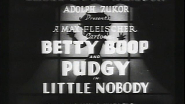 Betty Boop and Pudgy - Little Nobody - 1935