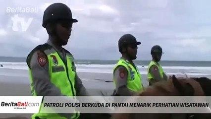 """Patroli Berkuda"" Di Pantai Menarik Perhatian Wisata"