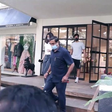 Navya Naveli Nanda with brother Agastya spotted at a bandra