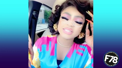 """Nigerian cross dresser Bobrisky lectures women - """"Ladies, learn how to keep your mouth shut""""."""