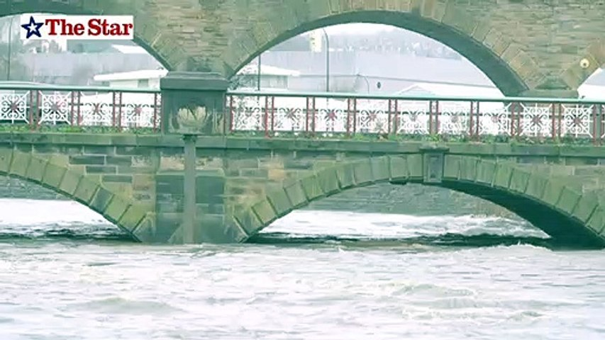 Rising river levels on the Don in Sheffield January 20th 2021