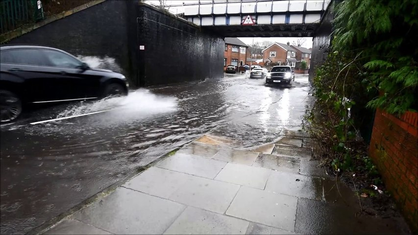 Flood scenes in the borough