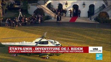EN IMAGES - Etats-Unis : Donald et Mélania Trump quittent la Maison Blanche avant l'investiture de Joe Biden