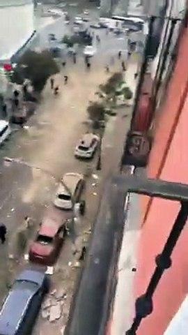 Una explosión destroza un edificio en Madrid. Vídeo de @valleejooo_