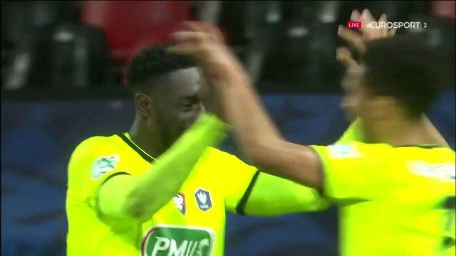 Guingamp n'y est plus : le 3e but de Caen, inscrit par Mendy