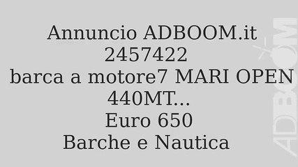 barca a motore7 MARI OPEN 440MT