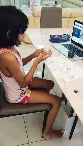 Tamilloviya takes a night class at home