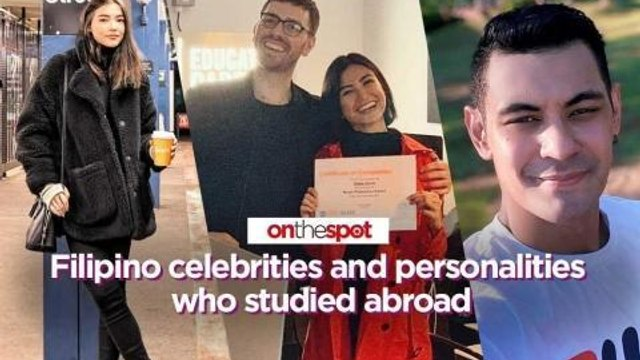 On the Spot: Filipino celebrities and personalities who studied abroad