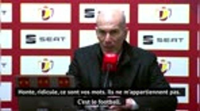 """16e de finale - Zidane : """"Ce n'est pas honteux, j'en assume la responsabilité"""""""