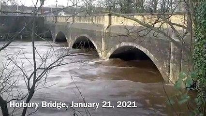 River Calder at Horbury Bridge