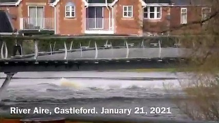 River levels at Castleford, January 2021