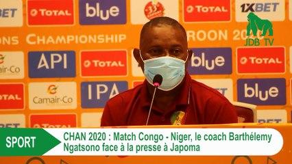 Match Congo-Niger: le coach BARTHELEMY NGATSONO face à la presse à Japoma