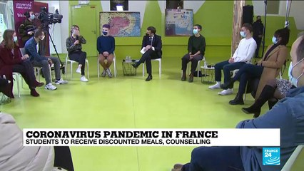France's Macron promises discounted meals to students amid growing economic distress due to Covid-19
