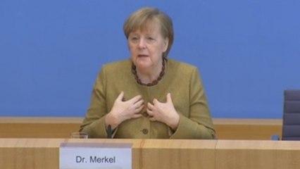 Merkel apela a evitar propagación de virus mutados para evitar la tercera ola