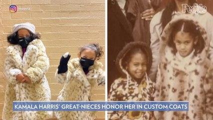 Kamala Harris' Great-Nieces Wear Custom Inauguration Coats Inspired by Her Own Childhood Jacket
