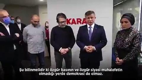 Davutoğlu'ndan Bahçeli tarafından hedef göstertilen Karar yazarlarına ziyaret