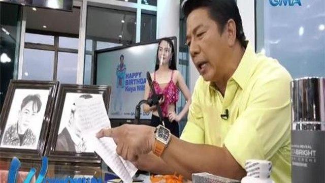 Wowowin: 16-anyos na caller, nagbigay ng charcoal sketch sa 'Tutok to Win!'