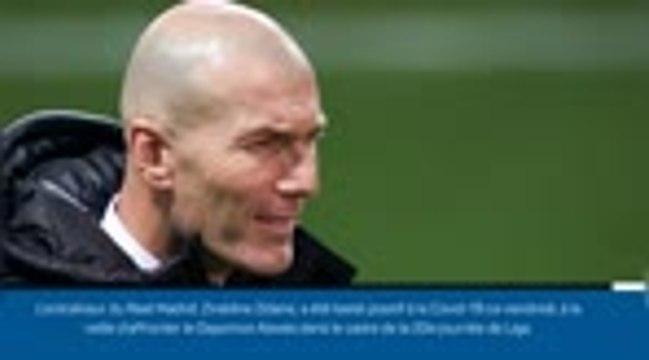 Real Madrid - Zinédine Zidane testé positif à la Covid-19