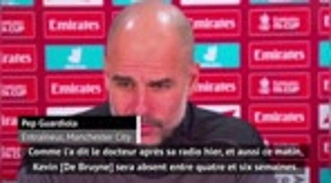 """Man City - De Bruyne blessé, """"un coup dur"""" pour Guardiola"""