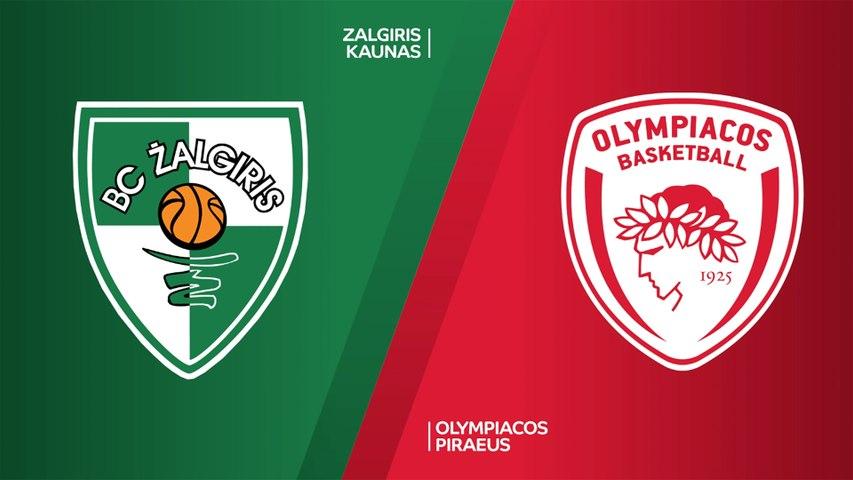 Zalgiris Kaunas - Olympiacos Piraeus Highlights | Turkish Airlines EuroLeague, RS Round 21
