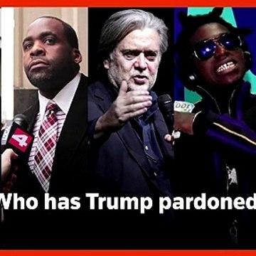 Trump pardons Bannon, Lil Wayne, Kilpatrick, see full Trump pardon list