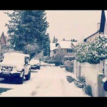 Snowing in Munich 2021