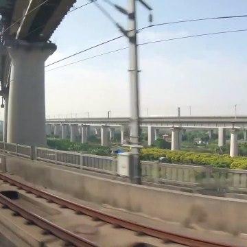 Guangzhou to Shenzhen, China - 4K High Speed Rail Fuxing Bullet Train - Full Trip Unedited