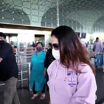 Ayushmann Khurrana and Mira Rajput snapped at the Airport