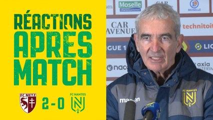 FC Metz - FC Nantes : la réaction de Raymond Domenech
