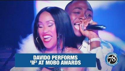 Davido performs 'IF' at the MOBO AWARDS