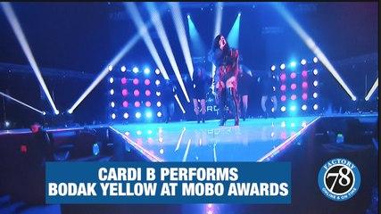 Cardi B Performs at MOBO AWARDS.