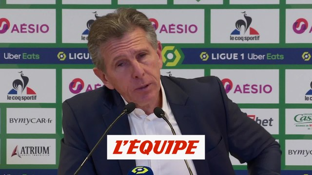 Claude Puel « en colère » après la gifle contre l'OL - Foot - L1 - ASSE
