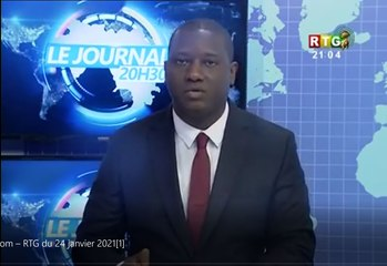 Le JT du 24/01/2021 de la RTG Koloma