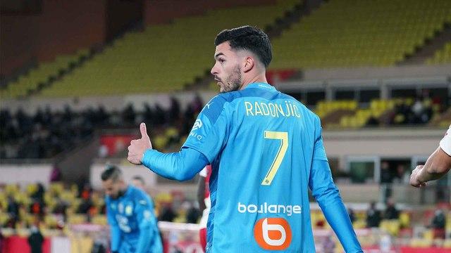 2020-2021   Monaco - OM (3-1) : Le but de Nemanja Radonjic