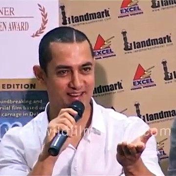 Aamir Khan, Shonali Bose, Konkana Sen at DVD launch of 'Amu' _ Aamir jokes of well-behaved press