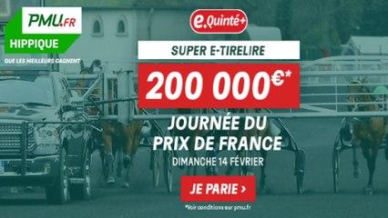 Bonus de bienvenue hippique jusqu'à 300€ offerts sur PMU.fr  pour la journée du Prix de France  ce dimanche 14 Février