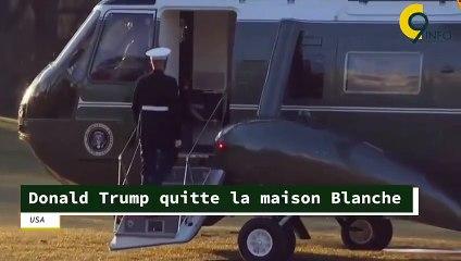 Donald Trump quitte la Maison-Blanche