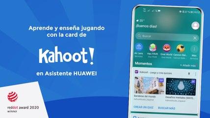 Usa la card de educación de Kahoot en Asistente para tus clases en línea