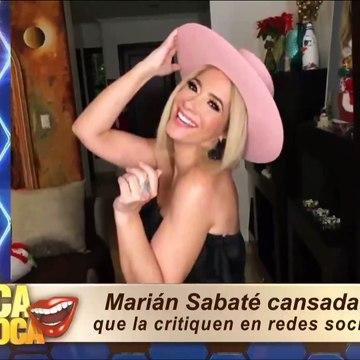 Marián Sabaté cansada que la critiquen en redes sociales