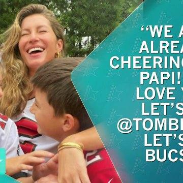 Tom Brady & Son React To Super Bowl LV Advancement