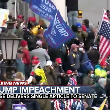 House delivers article of impeachment against Trump to Senate
