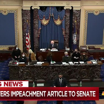 House Delivers Impeachment Article Against Trump To Senate