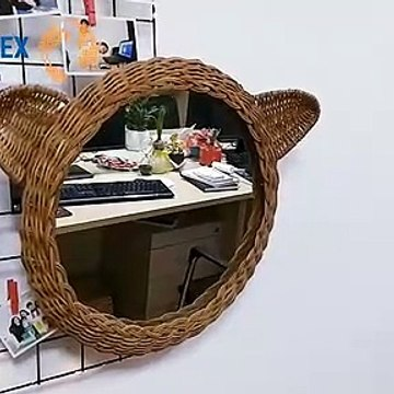 Flower Shape Rattan Mirror From Glovimex Vietnam