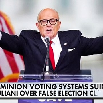 Dominion Voting Systems sues Giuliani $1.3B for false election claims